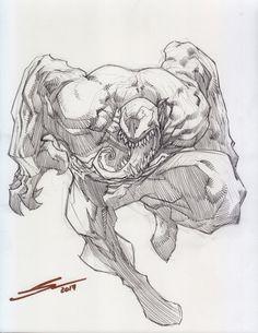 """we are venom"" venom comics, drawing cartoon characte Venom Comics, Comics Spiderman, Spiderman Kunst, Marvel Comics Art, Batman, Drawing Cartoon Characters, Cartoon Sketches, Comic Drawing, Cartoon Art"