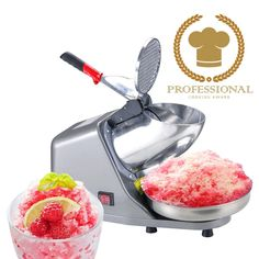 Koval Inc. Heavy Duty Stainless Steel Ice Shaver Snow Cone Machine Electric Shaved Ice Machine 143 lbs/hr Ice Shaver >>> Learn more by visiting the image link. (This is an affiliate link) Shaved Ice Recipe, Snow Cone Machine, Shaving Blades, Ice Bowl, Ice Shavers, Specialty Appliances, Small Appliances, Stainless Steel Bowl, Snow Cones