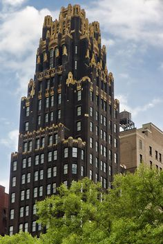 The American Radiator Building (since renamed to the American Standard Building), midtown Manhattan, New York City.