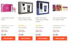 Gift Sets from £2 including Calvin Klein, Paco Rabane, Jean Paul Gaultier etc at Tesco