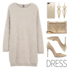 """""""Party On: Long Sleeve Dress"""" by lgb321 ❤ liked on Polyvore featuring Eleventy, Gianvito Rossi, Speck, Yves Saint Laurent and longsleeve"""
