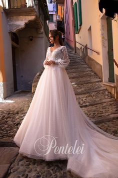 Buy Wedding Dress Pentelei 5038 with delivery . Buy Wedding Dress, Pink Wedding Dresses, Wedding Veils, Bridesmaid Dresses, Nice Dresses, Girls Dresses, Flower Girl Dresses, Bridal Nightgown, Dress For You
