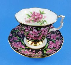 Royal Albert Provincial Flowers Fireweed Tea Cup and Saucer Set