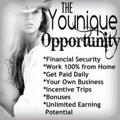 If you are looking for a supplemental income - a true work from home opportunity - consider sharing Younique Cosmetics!