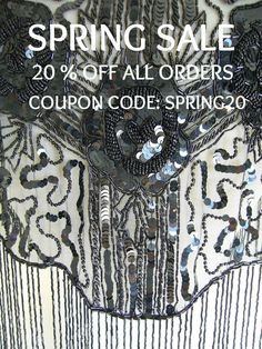 SPRING SALE Use This Coupon Code at by clotheslinesvintage on Etsy