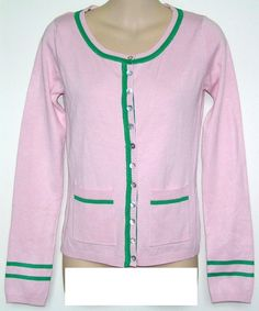 AKA Cardigan Letter Sweater | Pink & Green - AKA | Pinterest ...