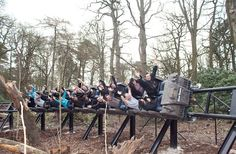 Thirteen, Alton Towers, Staffordshire, England. (Description contains spoilers!!) Thirteen is the world's first vertical freefall drop roller coaster - on which the track and train freefall approximately 60 foot into darkness. The Thirteen ride took two years to plan and construct and is the sixth major attraction at Alton Towers.