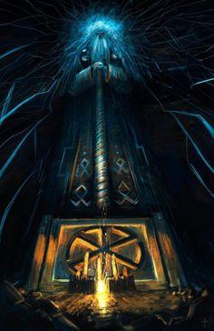 """Perun""- In Slavic Pagan mythology, Perun is the highest god of the pantheon and the god of thunder and lightning just like Germanic Thor or Greek Zeus. Norse Pagan, Norse Mythology, Russian Mythology, Vikings, Odin And Thor, Religion, Thunder And Lightning, Viking Symbols, Asatru"