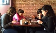 Going out to eat with friends turns into four strangers staring at screens far too often