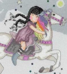 Birth Sampler - The Runaway - Gorjuss Cross Stitch Cute Cross Stitch, Counted Cross Stitch Patterns, Cross Stitch Embroidery, Blackwork, Cross Stitching, Images, Cross Eyed, Poppy, Free Printable
