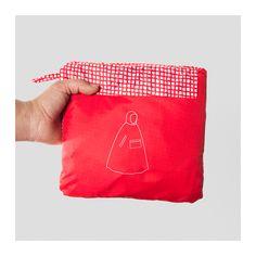 KNALLA Poncho impermeabile - rosso/bianco, - - IKEA
