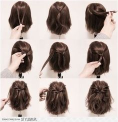 HalfUp Hairstyles For Short And Medium Length Hair To Try Now - Hairstyles for short hair fast