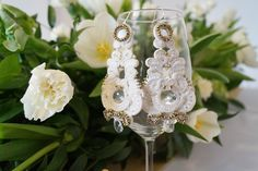 http://www.weddingproject.eu Wedding soutache earrings