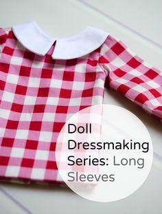 Doll Dressmaking long sleeves