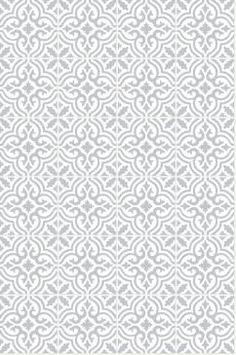 Kakeldekor MARRAKECH 2023-10 Ljusgrå/vit - Välj antal och storlek! (15x15cm - 8 st.)
