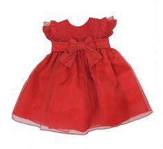 Vestido de Festa Bebê Rodado Kopela Vermelho