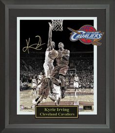 Kyrie Irving Autographed Photo Framed