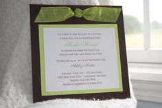 the stationery place: how to: simple DIY baby shower invites