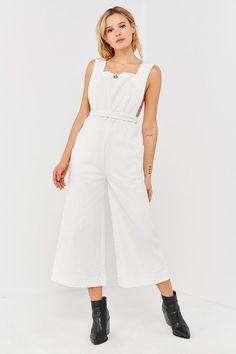 Urban Outfitters UO Tia Square-Neck Apron Jumpsuit Minimal Fashion New york fashion #newyork #minimal  #fashion