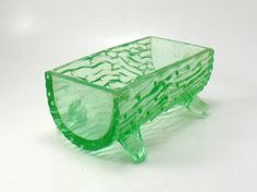 Depression glass candy dish. Cutest!!! ~ GoldPlus, etsy