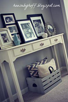 Pintar una caja así para guardar mantas de sofá