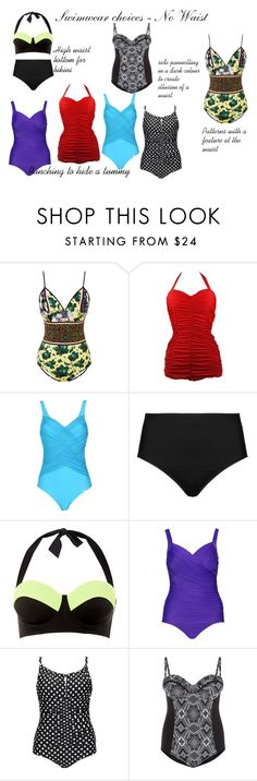 Swimwear - No Waist by silhouetteimage on Polyvore featuring Clover Canyon, Miraclesuit, Triumph, Cactus, La Blanca and Vintage One