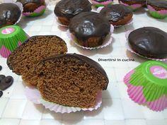 Muffin alla nutella glassati