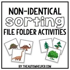 File Folder Activities for Non-Identical Sorting by theautismhelper.com