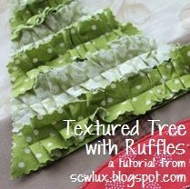 Part 1. Sew Lux Fabric : Blog: Tutorial: Textured Tree with Ruffles.