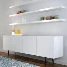 White Laminate Floating Shelves