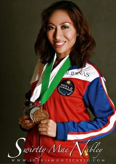Sophia Montecarlo a.k.a. SwirttyMae Nibley with Medals WCOPA 2010 The Global Pinoy