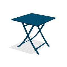 table de jardin marius carre bleu riviera 2 personnes leroy merlin - Table De Jardin Aluminium Leroy Merlin