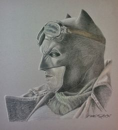 """Steam-punk Batman""Colour Pencil & Pastel on Grey Stock ~ Drawn by: Michael P. McIntee"