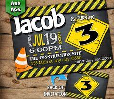 Construction birthday invitation Construction by JcoInvitations, $10.00