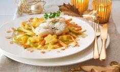 Kabeljau mit Kartoffelsternen auf Gemüsebett Rezept | Dr. Oetker