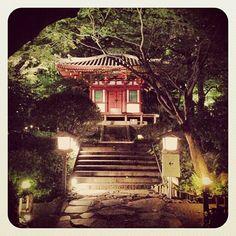 Japanese temple in the Grand Prince Hotel Takanawa garden (Tokyo, Japan)