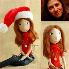 Handmade Personalized Portrait cloth doll, via Etsy. #artdoll, #OOAK
