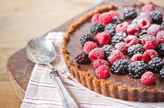 valentines day chocolate tart