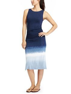 Tie Dye Tank Middy Dress - Take your casual summer style up a notch with this midi-length tank dress that adds a sophisticated touch to your beach days.