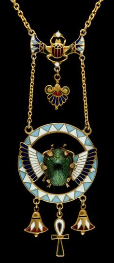 Necklace with scarab pendant, England ^ Minneapolis Institute of Art