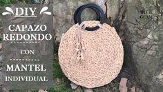 Qué idea más buena!!! Jute, Craft Tutorials, Craft Videos, Refashion, Missoni, Straw Bag, Sewing Projects, Crochet Hats, Handbags