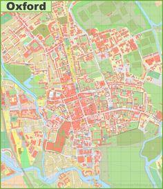 Oxford city center map