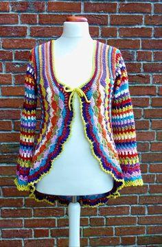 Crochet Jacket, Knit Or Crochet, Crochet Shawl, Crochet Baby, Crochet Designs, Crochet Patterns, Crochet Circles, Freeform Crochet, Crochet Clothes