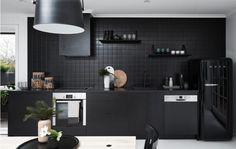 All matt black kitchen