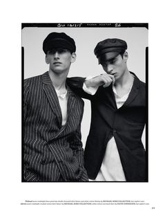 Fraternity Suit: Adrien Sahores & Thibaud Charon for British GQ Style