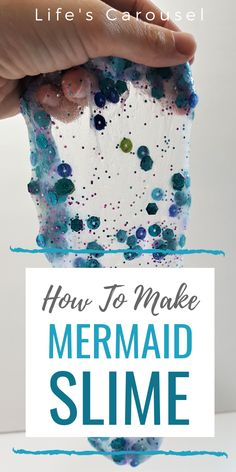 Mermaid Slime – Shimmery & Shiny Slime, Perfect for Parties How to Make Mermaid Slime – An easy slime recipe for Mermaid Slime! Clear glitter slime that is a perfect kids' activity! Also great for classroom parties and birthday parties! Single Parenting, Kids And Parenting, Parenting Hacks, Mermaid Slime, Easy Slime Recipe, Craft Projects For Kids, Kids Crafts, Glitter Slime, Summer Activities For Kids