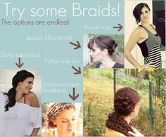 Cute hair braids... probably don't have thick enough hair for it, but gonna try!