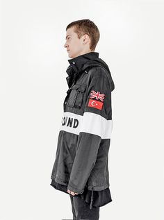 Sport Nylon Pullover Detachable Hooded Coach Jacket in Black - Profound Aesthetic - 2