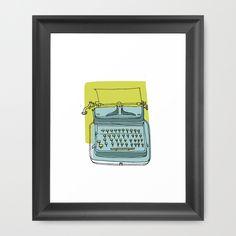 Write! Framed Art Print