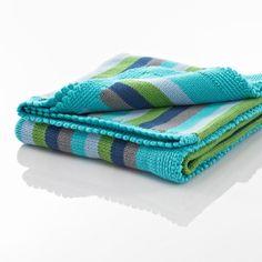 Fair Trade Babydecke Stripes in Grün